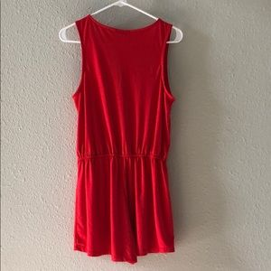 Ambience Other - 2/$10 Ambience Red Romper Size Medium